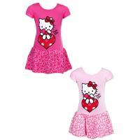 Šaty hello kitty , Velikost - 110 , Barva - Tmavo ružová