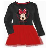 Šaty Minnie Disney , Velikost - 92 , Barva - Černo-červená