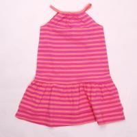 Šaty na ramienka , Barva - Ružová s prúžkom , Velikost - 110/116