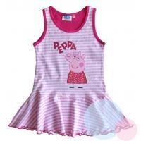 Šaty PEPPA PIG , Velikost - 128 , Barva - Ružová s prúžkom