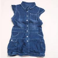 Šaty riflové , Barva - Modrá , Velikost - 98/104