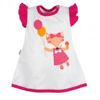 Šaty s čelenkou New Baby Liška , Velikost - 62 , Barva - Bielo-červená