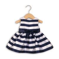 Šaty s mašľou , Barva - Modrá , Velikost - 80