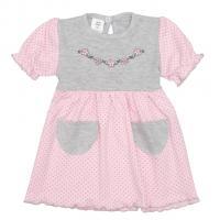 Šaty Summer dress , Velikost - 62 , Barva - Šedo-růžová