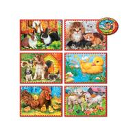 Skladací obrázkové kocky 12 ks , Barva - Barevná