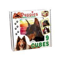 Skladací obrázkové kocky Puppies , Barva - Hnedá