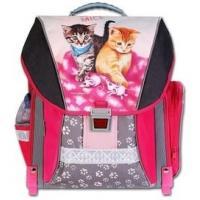 Školský batoh CATS & MICE , Barva - Tmavo ružová
