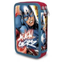 Penál Avengers dvoupatrový , Barva - Modro-červená