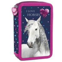 PENÁL HORSE KONĚ vybavený , Barva - Tmavo modrá