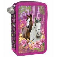 ŠKOLNÍ PENÁL BEZ VÝBAVY KONĚ I LOVE HORSES , Barva - Ružová