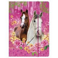 SLOŽKA NA SEŠITY A4 KONĚ I LOVE HORSE , Barva - Ružová