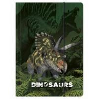 Zložka na zošity Dinosaurus , Barva - Zelená
