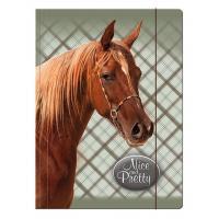 Zložka na zošity Hnedý kôň , Barva - Hnedá