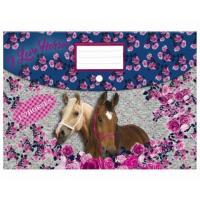 Zložka na zošity Kone , Barva - Šedo-modrá