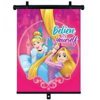 Slnečná clona Roletka Disney Princezné , Barva - Malinová