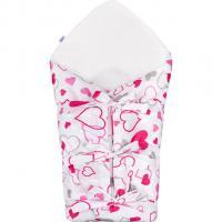 Šnurovaci zavinovačka Srdiečka , Barva - Ružová , Rozměr textilu - 70x70