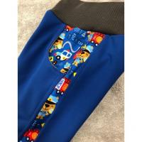 Softshell kalhoty s fleecem hasiči lampas , Velikost - 116 , Barva - Modrá