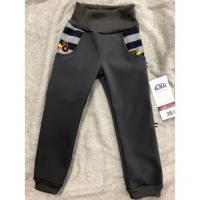 Softshellové kalhoty Bagry s fleecem , Velikost - 134 , Barva - Šedá