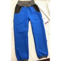 Softshellové kalhoty s fleecem , Velikost - 98 , Barva - Modrá