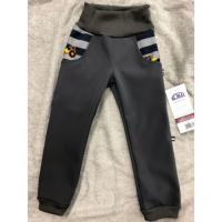 Softshellové kalhoty s fleecem Bagry , Velikost - 98 , Barva - Šedá