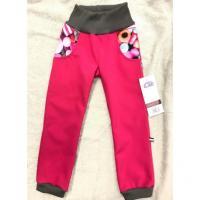 Softshellové kalhoty s fleecem Bonbonky , Velikost - 134 , Barva - Ružová