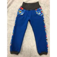 Softshellové kalhoty s fleecem Hasiči lampas , Velikost - 134 , Barva - Modrá