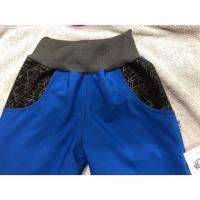 Softshellové kalhoty s fleecem , Velikost - 134 , Barva - Modrá