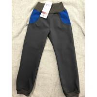 Softshellové kalhoty s fleecem , Velikost - 134 , Barva - Šedá