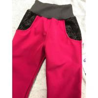 Softshellové kalhoty s fleecem Týna , Velikost - 98 , Barva - Ružová