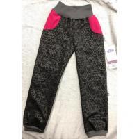 Softshellové kalhoty s fleecem Týna , Velikost - 116 , Barva - Šedá