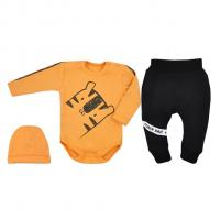 Súprava 3-dielna Tigrík , Barva - Oranžová , Velikost - 74