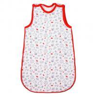Spací pytel New Baby Hedgehog zateplený , Barva - Červená , Velikost - 62