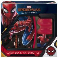 BOX NA SVAČINU A LÁHEV NA PITÍ Spiderman , Barva - Černo-červená