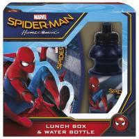 Svačinková sada Spiderman , Barva - Tmavo modrá , Velikost lahve - 400 ml
