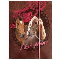 DESKY NA SEŠITY A4 HORSE KONĚ , Barva - Hnedá