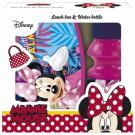 Desiatový BOX A LÁHEV Minnie , Velikost lahve - 330 ml , Barva - Malinová