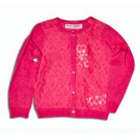 Sveter pre dievčatá , Barva - Ružová , Velikost - 86