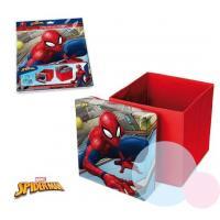 Taburet s úložným priestorom Spiderman , Barva - Červená