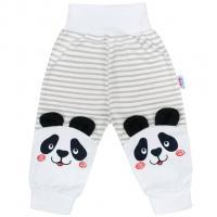 Tepláčky New Baby Panda , Velikost - 80 , Barva - Šedá
