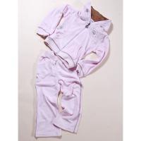 Tepláková súprava zamatová , Barva - Ružová , Velikost - 128