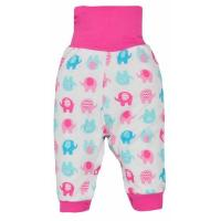 Tepláky Dominik sloni , Barva - Ružová , Velikost - 74