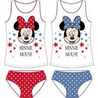 Tielko a nohavičky Minnie , Barva - Červená , Velikost - 128
