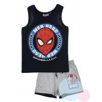 Tílko a kraťasy Spiderman , Barva - Tmavo modrá , Velikost - 98
