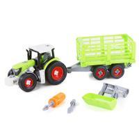 Traktor šroubovací s vlečkou a lžící , Barva - Zelená