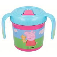 TRÉNOVACÍ HRNEČEK PEPPA PIG , Velikost lahve - 250 ml , Barva - Ružová