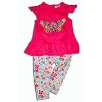 Tričko a nohavice , Velikost - 74 , Barva - Tmavo ružová