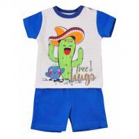 Tričko a kraťasy Cactus Summer , Barva - Modrá , Velikost - 62
