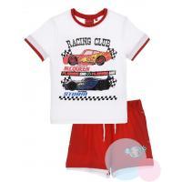 Tričko a kraťasy Cars , Barva - Bielo-červená , Velikost - 104