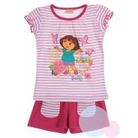 Tričko a kraťasy Dora , Barva - Ružovo-biela , Velikost - 98