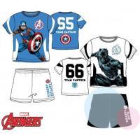 Trička a kraťasy Kapitán Amerika , Velikost - 104 , Barva - Bielo-modrá